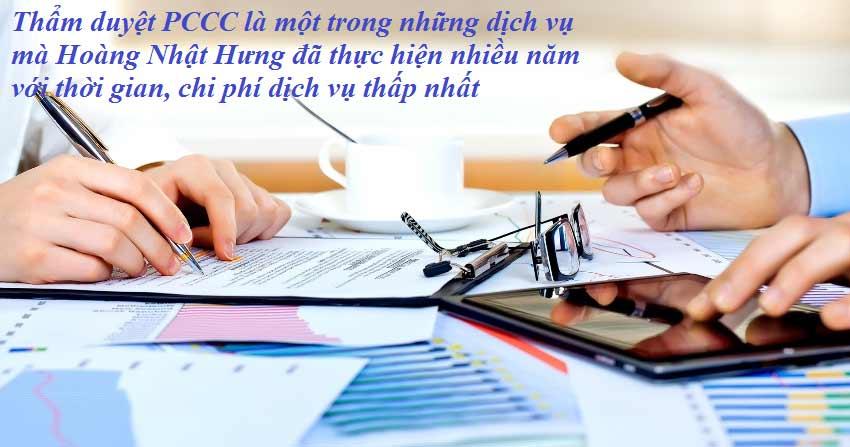 Hoàng Nhật Hưng thực hiện dịch vụ thẩm duyệt PCCC giá tốt nhất