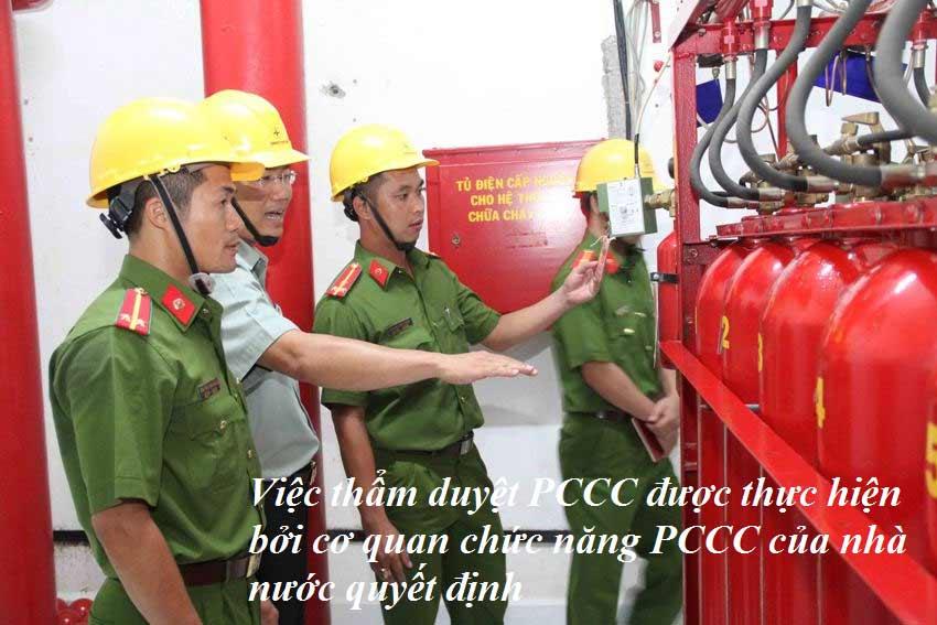 Cơ quan cảnh sát PCCC sẽ xem xét và thẩm duyệt thiết kế PCCC