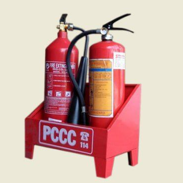 Kệ đôi để đặt 2 bình chữa cháy