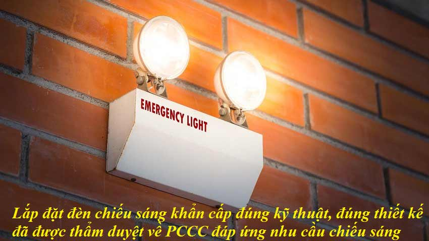 Lắp đặt đèn chiếu sáng sự cố chất lượng, chính hãng